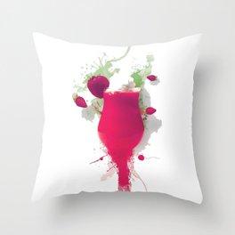 Sorbet fraises chantilly painting colors fashion Jacob's Paris Throw Pillow
