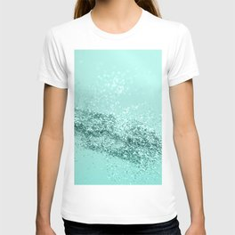 Summer Vibes Glitter #7 #mint #shiny #decor #art #society6 T-shirt