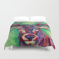 stag Duvet Covers featuring Stag by Pandora's Box Design Co.