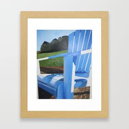 Adirondack Chair Acrylic Painting - Beach Decoration Framed Art Print