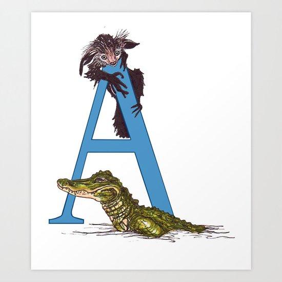 A is for Aye-Aye Art Print