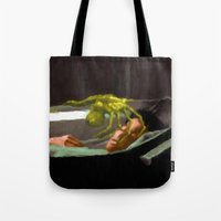 ripley Tote Bags featuring Alien 3 Ellen Ripley poster by VGPrints