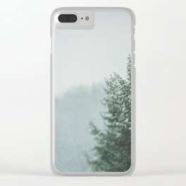 Forest in winter Clear iPhone Case