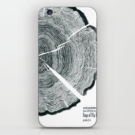 Tree Rings - Surely Your Goodness Will Follow Me All the Days of My Life (Psalm 23:6) iPhone Skin