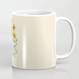 Floral Heart: Sunflower Human Anatomy Coffee Mug