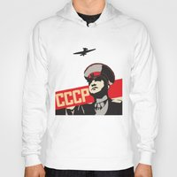 soviet Hoodies featuring SOVIET RED ARMY by Sofia Youshi