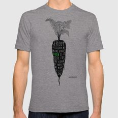 Every decision we make about food is a vote for the kind of world we want to live in Mens Fitted Tee MEDIUM Tri-Grey