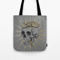 stay gold Tote Bags featuring stay gold by Laura Graves