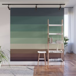 Colorful Color Block Minimalist Stripes Pattern Wall Mural