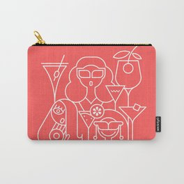 Cocktail Party Red Carry-All Pouch