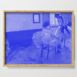 Classic Art - The Dance Lesson - Edgar Degas Serving Tray