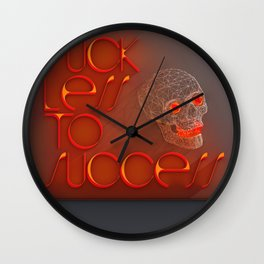 Suck less to Succes Wall Clock