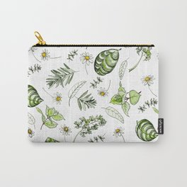 Scattered Garden Herbs Carry-All Pouch