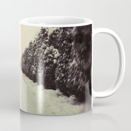 Avenue during a snowing. Coffee Mug