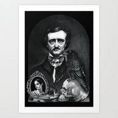 Edgar Allan Poe Portrait Art Print