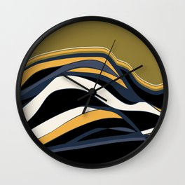 olive & navy & mustard  / minimalist Wall Clock