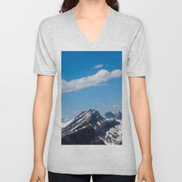 Dreamy Mountain Tops Unisex V-Neck