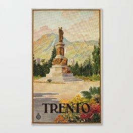 Trento Italy Statue Dante Canvas Print