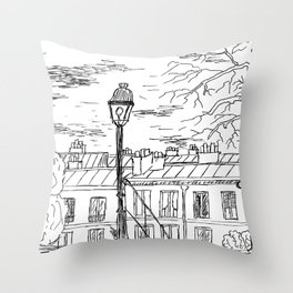 Street in Paris Throw Pillow