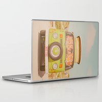 europe Laptop & iPad Skins featuring let's ride through europe by Hello Twiggs