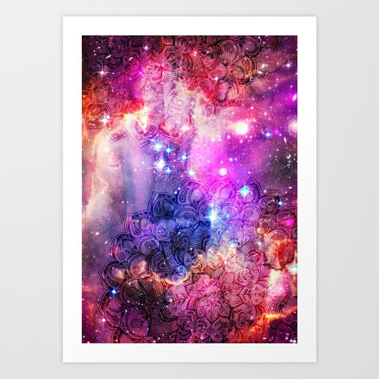 Doodles in Deep Space Art Print