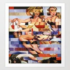 Glitch Pin-Up Redux: Taylor & Tiffany Art Print