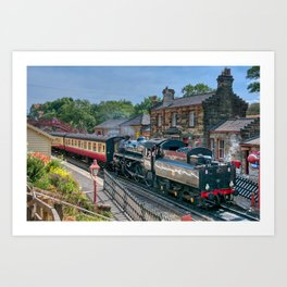 Goathland Station - North Yorkshire Moors Railway Art Print