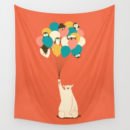 Penguin Bouquet Wall Tapestry