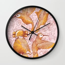 Hector The Lazy Hummingbird Wall Clock