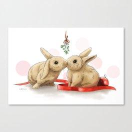 Christmas Bunnies Canvas Print