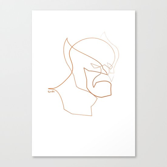 One line Wolverine Canvas Print