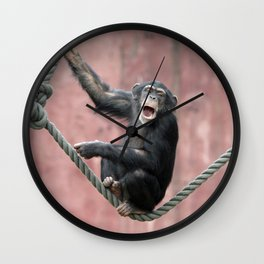 Chimpanzee_001_by_JAMFoto Wall Clock