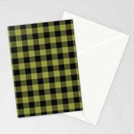 Buffalo Plaid Pattern Yellow Stationery Cards