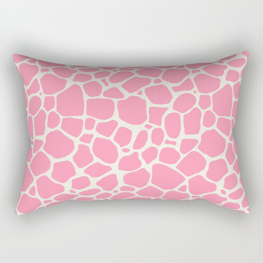 Cute Pink Giraffe Skin Pattern Rectangular Pillow RPW8051675