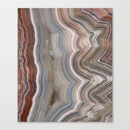 Striped Agate Crystal Canvas Print