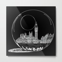 London on black background Metal Print