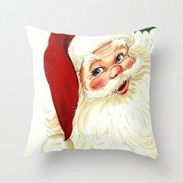 Cute laughing vintage santa Throw Pillow