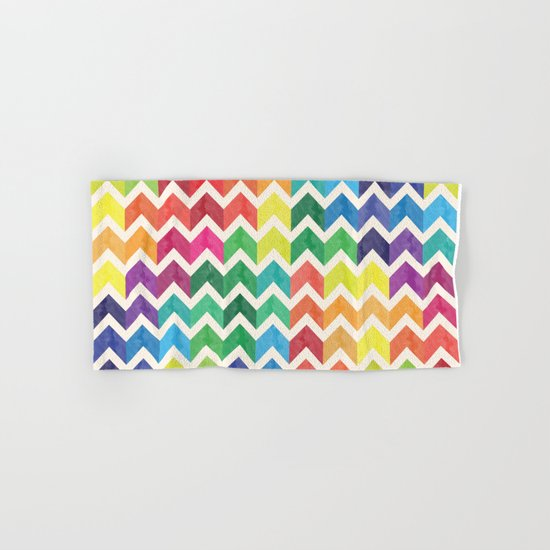 Watercolor Chevron Pattern IV Hand & Bath Towel