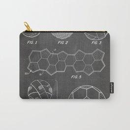 Soccer Ball Patent - Football Art - Black Chalkboard Carry-All Pouch