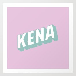 KENA Art Print