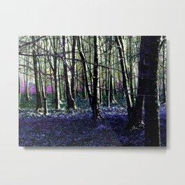 Foest Winter Purple Metal Print