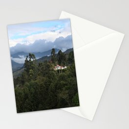 A house in the mountains  Stationery Cards