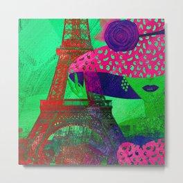 Mademoiselle Paris Metal Print