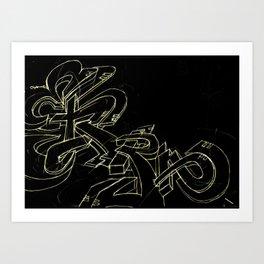 Extra black gold Art Print
