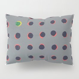 Green floats on yellow - line graphic Pillow Sham