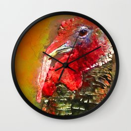 Thanksgiving Turkey, Turkey Painting, Turkey Art, Thanksgiving Decor, Turkey Animal, Turkey Art, Wall Clock