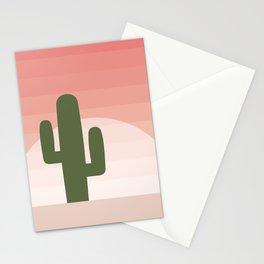 Cactus - Pink Sunset Desert Stationery Cards