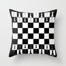 Chess Board Layout Throw Pillow