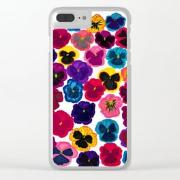 Plentiful pansies Clear iPhone Case