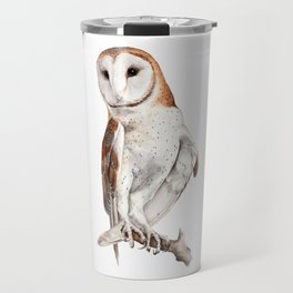 Barn Owl Watercolor Travel Mug